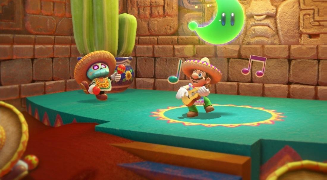 Mario schlüpft nicht nur in allerhand Kostüme ...