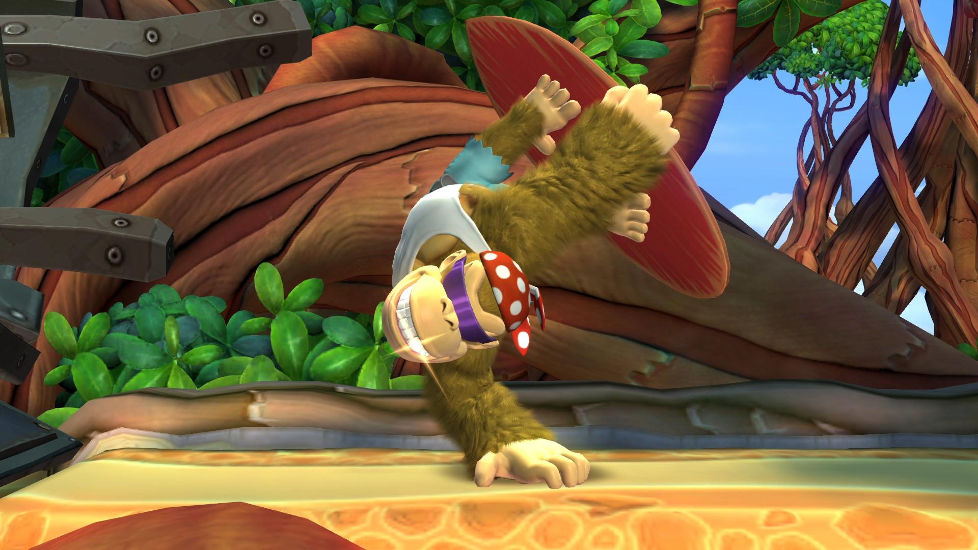 In der Switch-Version dürft ihr nun auch die Kontrolle über Funky Kong übernehmen ...