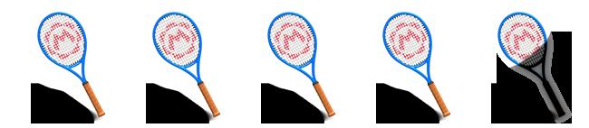 4,5 von 5 Tennis-Schlägern.