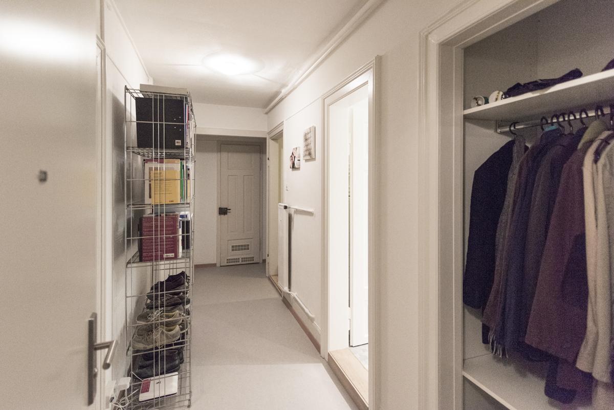 Erneuerter Wohnungskorridor