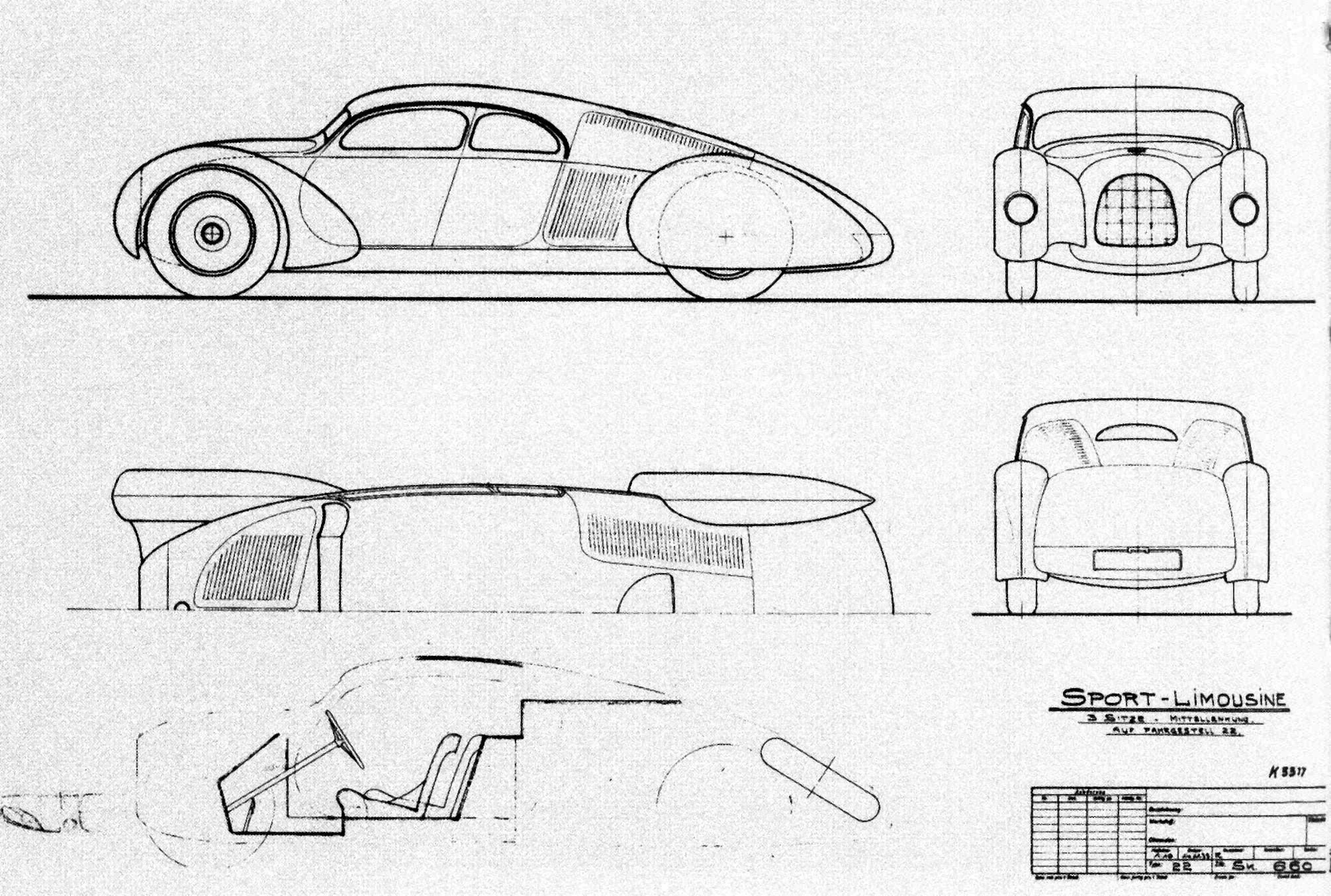Porsche Typ 52: Design Komenda