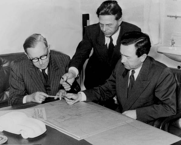 Karl Rabe, Erwin Komenda und Ferdinand Porsche: Komenda guided the Stuttgart firm into its next generation, supervising body fabrication for the Type 901, which ultimately became the 911 and supplanted the 356.