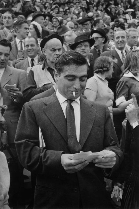 FRANCE. Paris. 1953. Longchamp Racecourse. Photographer Robert CAPA
