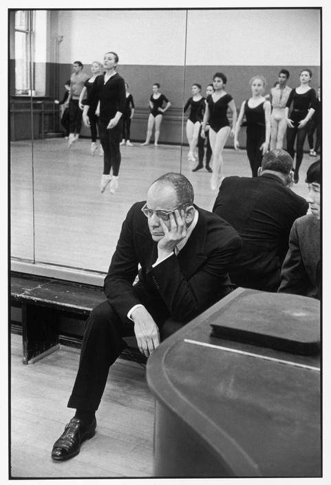USA. New York City. American School of Ballet. 1959. Lincoln KIRSTEIN, US critic and impresario
