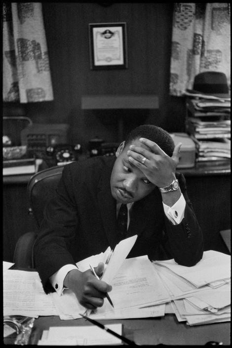 USA. Georgia. Atlanta. Pastor's study of Ebenezer Baptist Church. President of the Southern Christian Leadership Conference Martin Luther King. 1961
