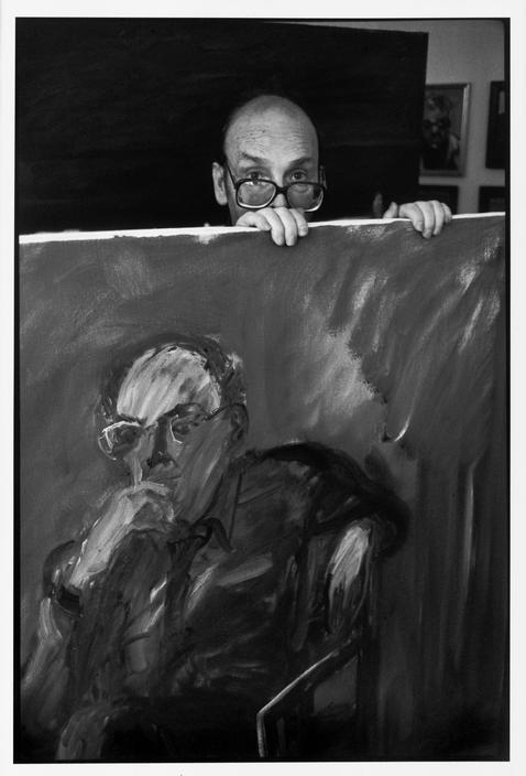The Austrian painter, Georg EISLER. 1993