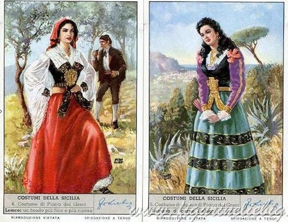 Costumi tipici siciliani benvenuti su goccediperle - Costumi da bagno femminili ...