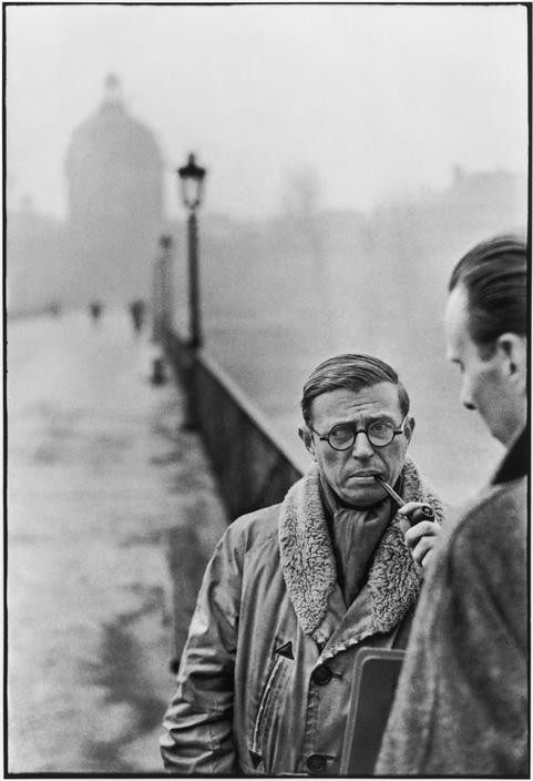 FRANCE. Paris. Pont des Arts. French writer and philosopher, Jean-Paul SARTRE. 1946.