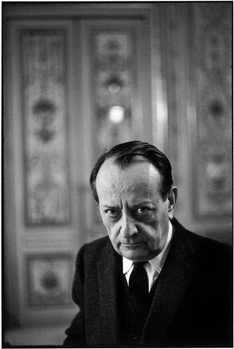 French writer, André MALRAUX, in his office as Cultural Minister. FRANCE. Paris. 1968.