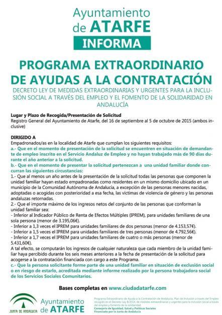 Abierto el plazo para solicitar las ayudas de 15 de Septiembre a 5 de Octubre