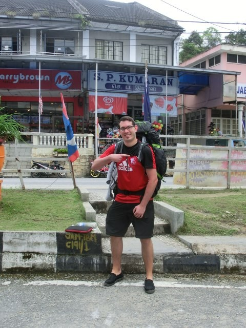 Der SVF beim Backpacking in Tanah Rata, Malaysia
