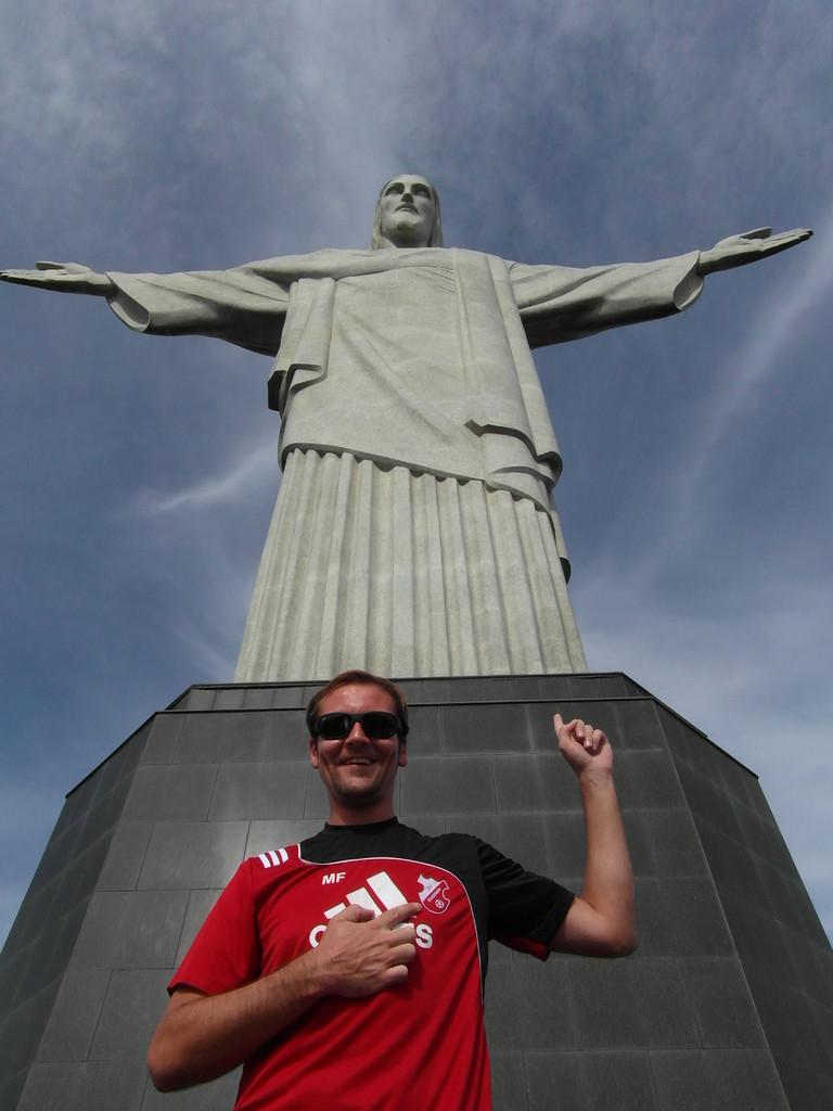 Der SVF holt sich den Segen von ganz oben: Christo auf dem Corcovado - Rio de Janeiro, Brasil.