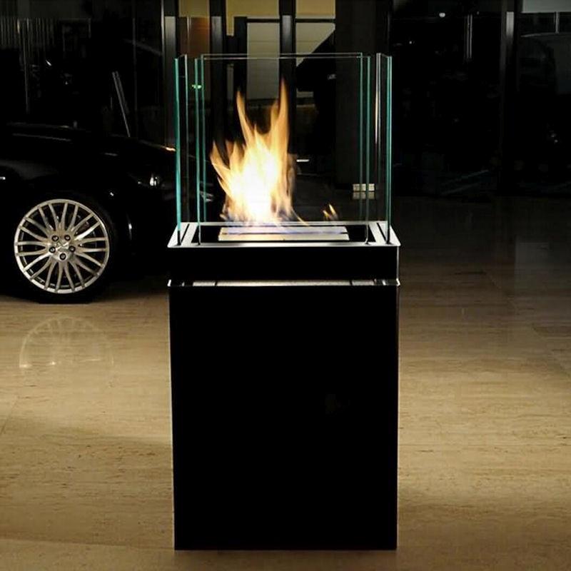 Ethanolkamin Semi Flame Edelstahl schwarz von radius design