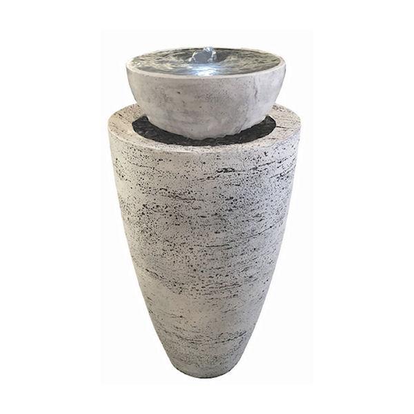 Brunnen Coupole Fi-Beton weiß