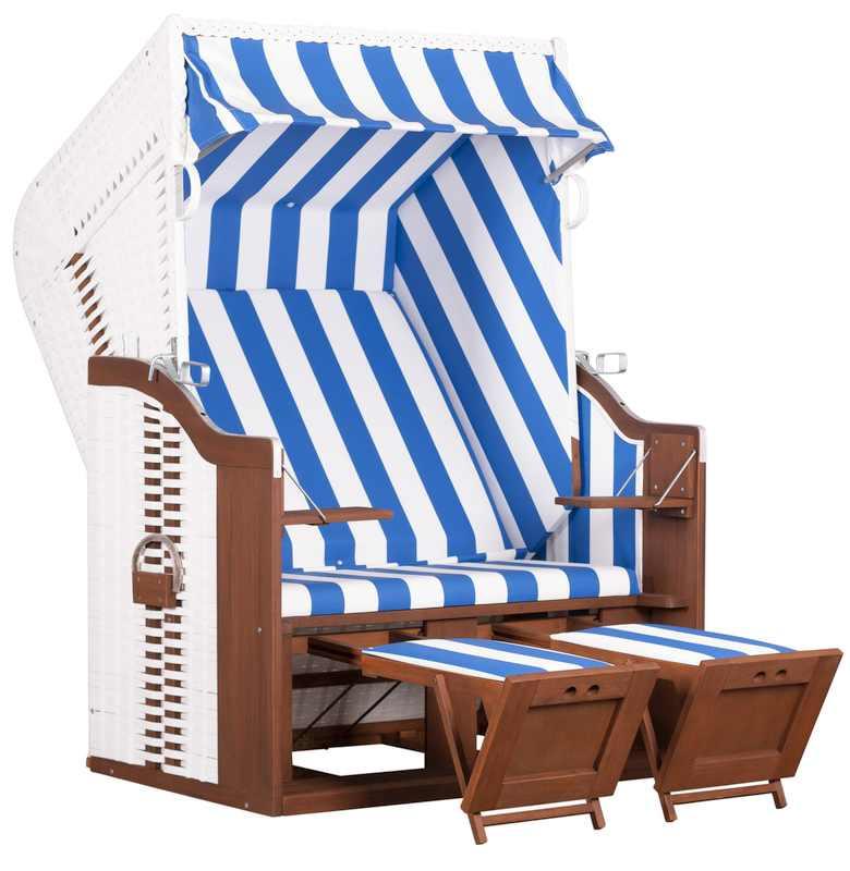 Strandkorb Fehmarn PVC Geflecht weiß Dessin 991