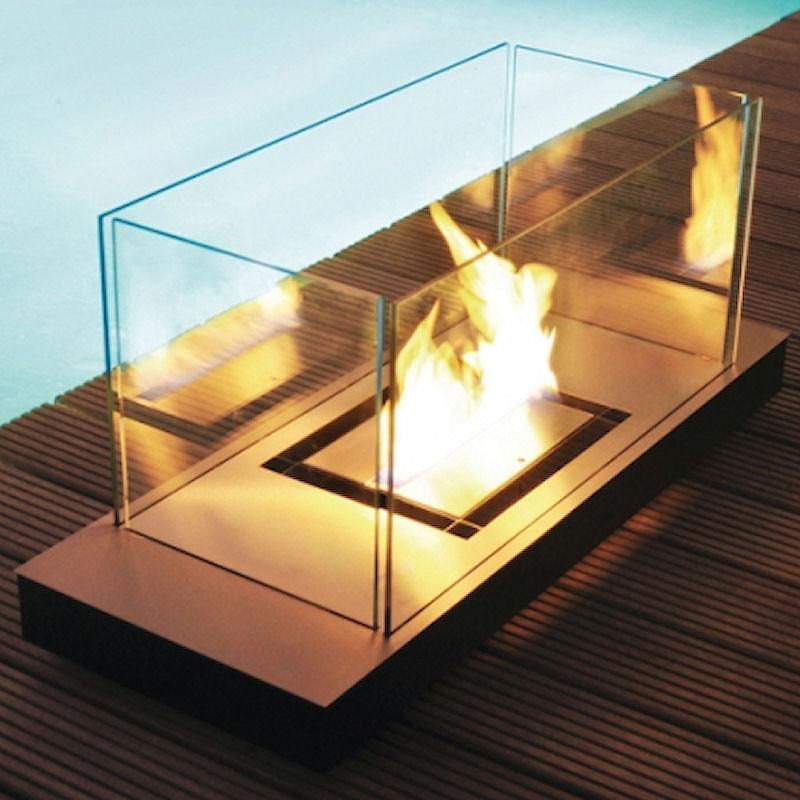 Uni Flame Edelstahl matt/ Gehäuse schwarz