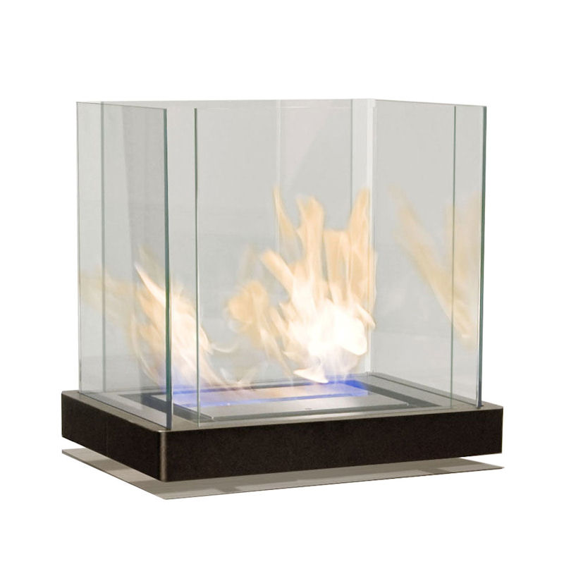 Ethanolkamin Top Flame Edelstahl/schwarz von radius design