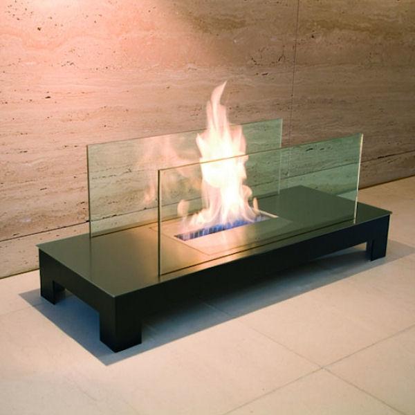 Floor Flame Edelstahl mit schwarzem Gehäuse 537a