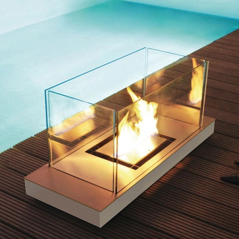 Uni Flame Edelstahl matt / Gehäuse weiß