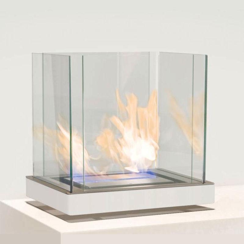 Ethanolkamin Top Flame Edelstahl/weiß von radius design