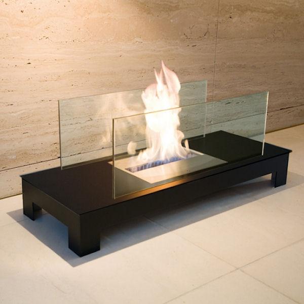 Floor Flame schwarz mit schwarzem Gehäuse 537c