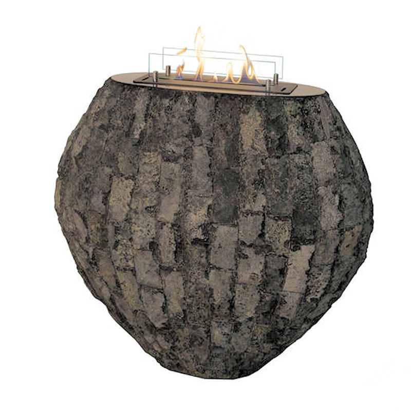 Ethanolkamin Shigo Broken Stone grau von Xaralyn