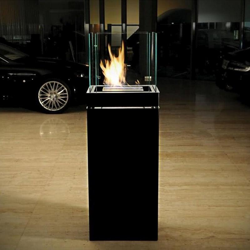 Ethanolkamin High Flame Edelstahl schwarz von radius design