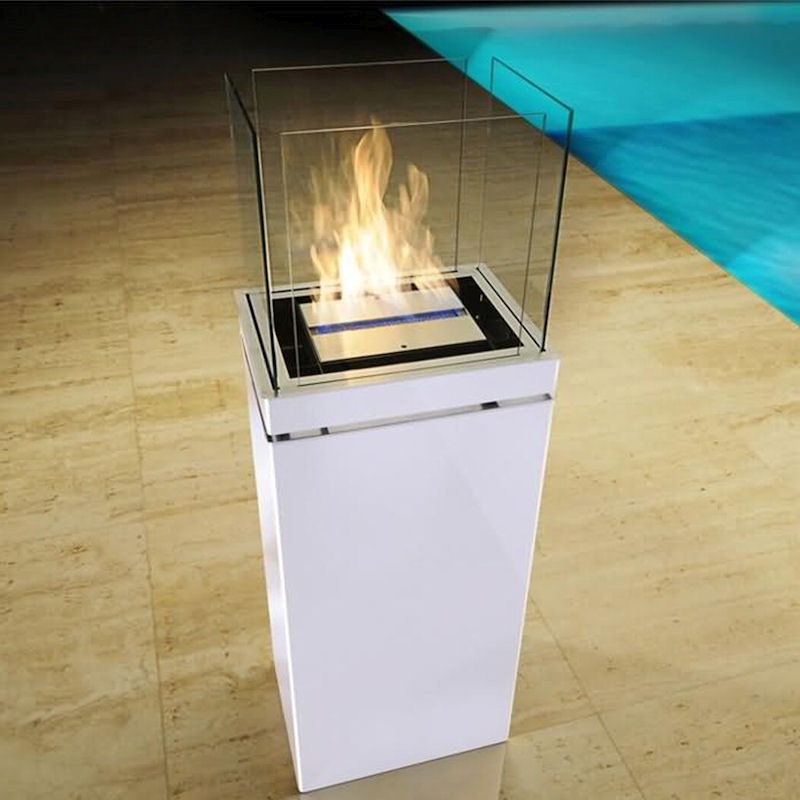 Ethanolkamin High Flame Edelstahl weiß von radius design