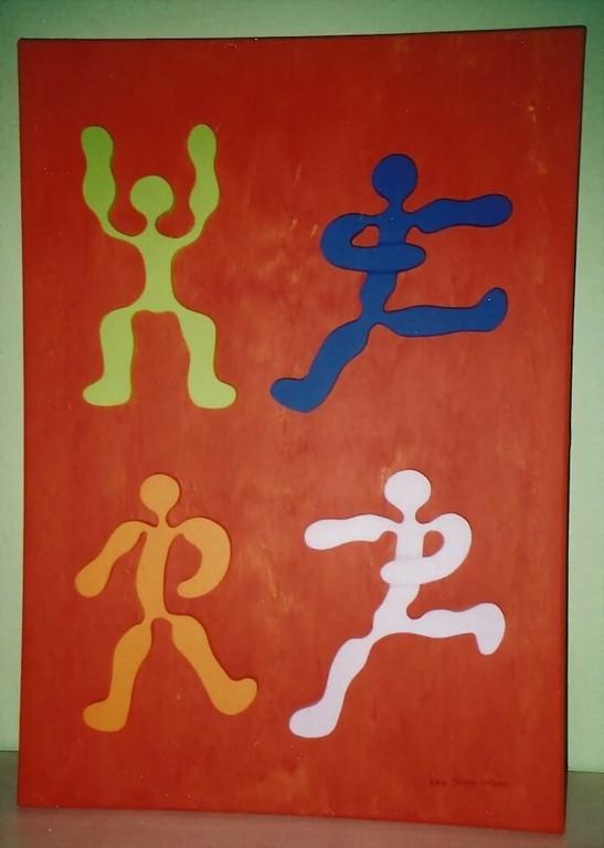 HERZ Nr.5 - Menschen lieben Menschen - Skulptur - Acryl - Leinwand