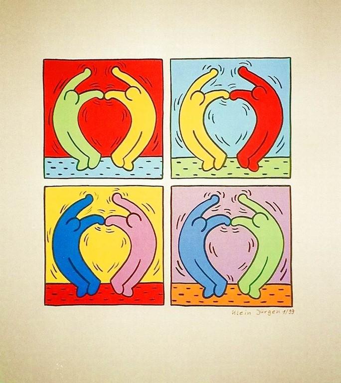 HERZ Nr.1 - Menschen lieben Menschen - Acryl - Malpapier