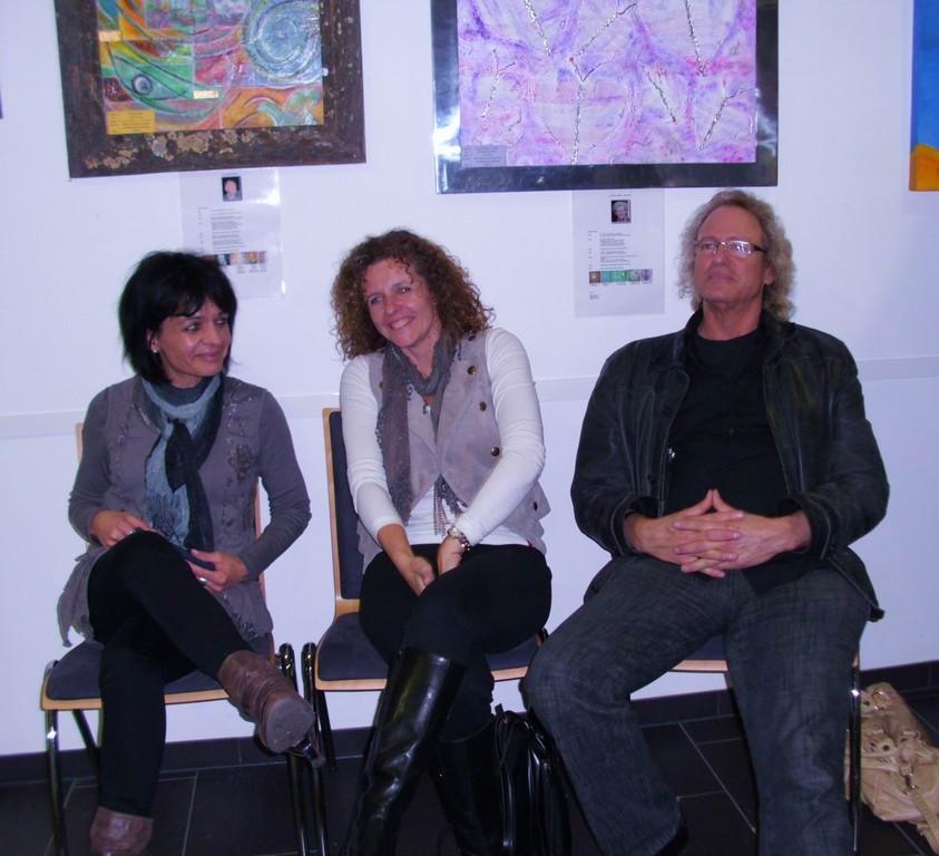 Filomena,Birgit Lahr und Künstler Manfred Mertz