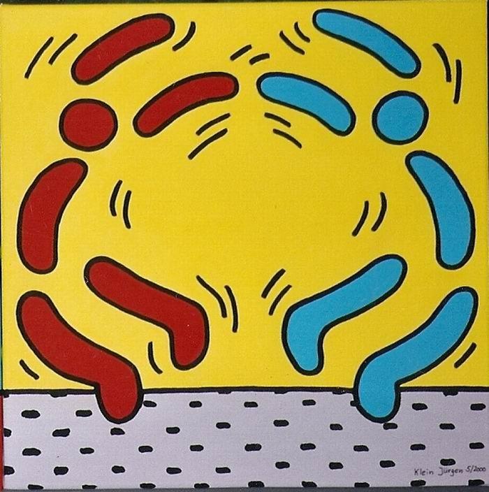 HERZ Nr.4 - Menschen lieben Menschen - Acryl - Leinwand