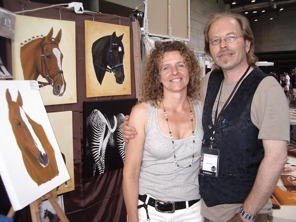 Künstlerin Birgit Lahr und Künstler Klein Jürgen