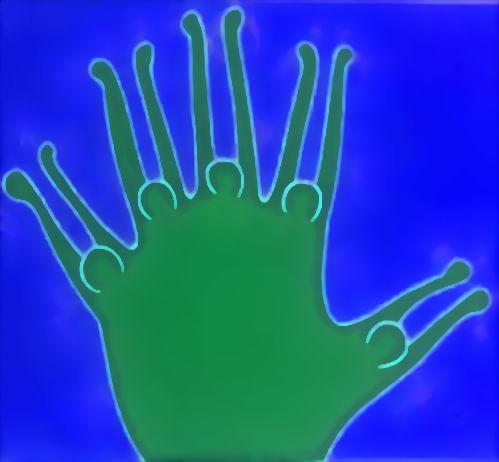 "photographie "" HALLO "" blau grün"