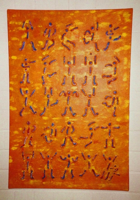 Struktur/Leinwand/Acryl  - Körperalphabet Nr.4 - 75x115 cm