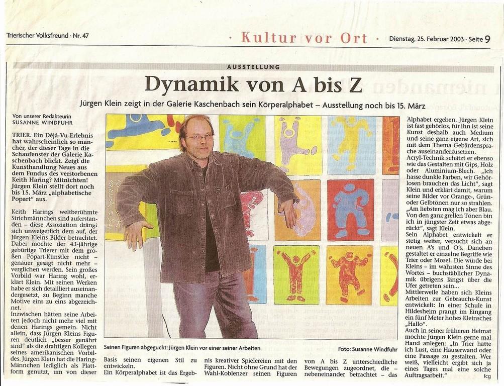 Trierischer Volksfreund Zeitung 2003