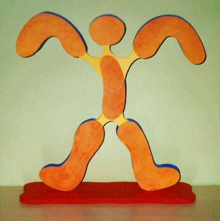 "Skulptur - Körperalphabet - Nr.5  "" M "" ca.50 cm hoch  (c) Klein Jürgen"
