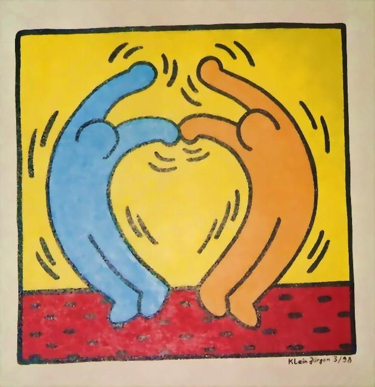HERZ Nr.1 - Menschen lieben Menschen - Acryl - Leinwand