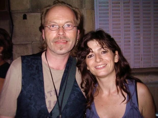 Künstler Klein Jürgen und Schauspielerin Emmanuelle Laborit