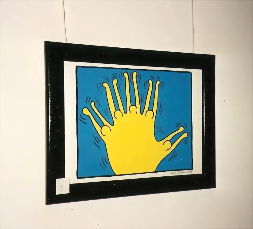 "orignales Gemälde "" HALLO "" Acryl - Malpapier"