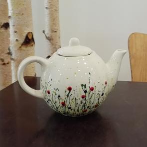 Keramikkanne bemalt