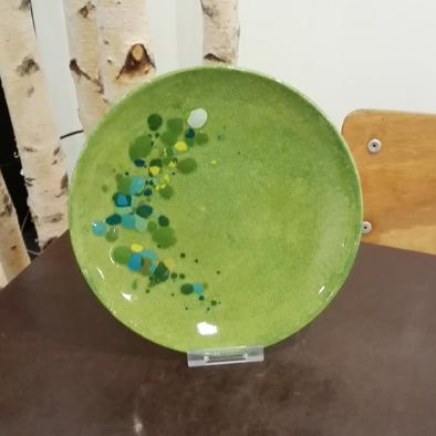 Keramikteller Streuseltechnik