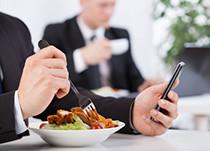 Menü-Bringdienst für Büros