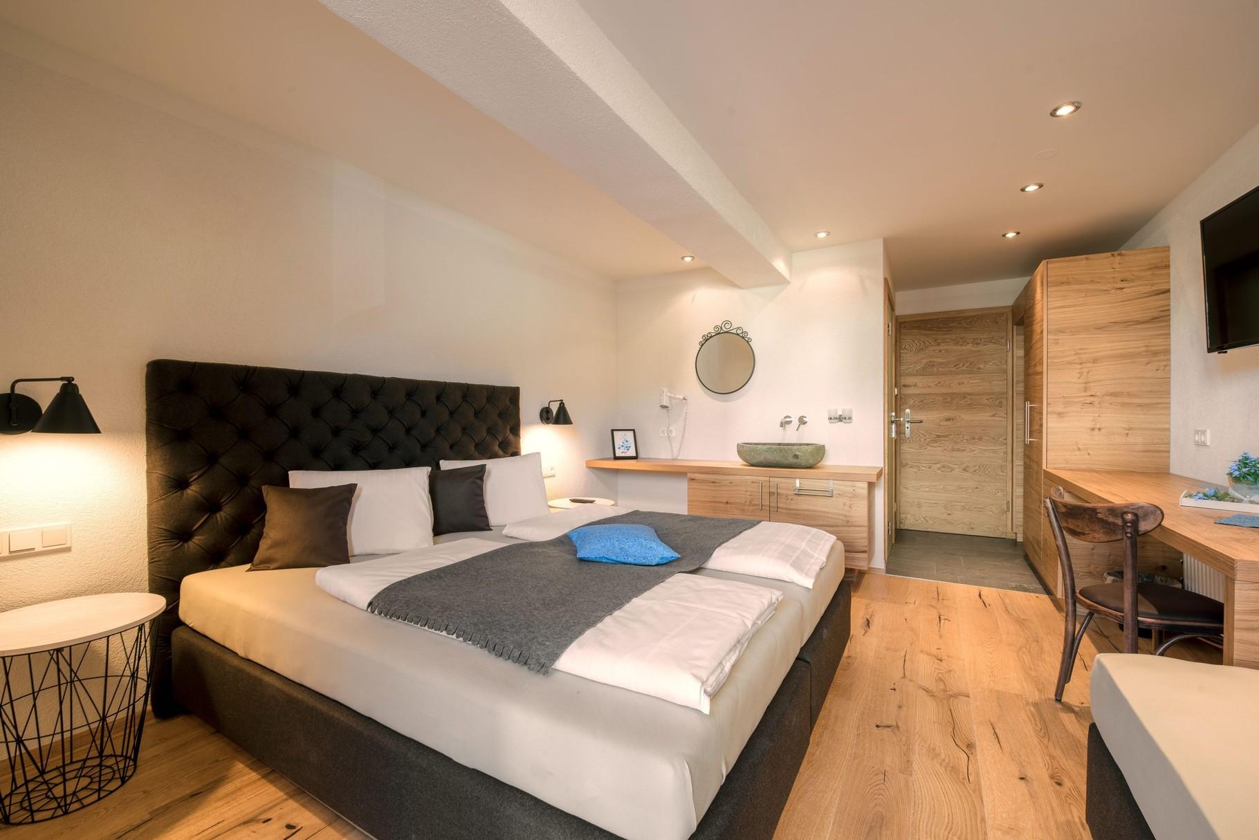 Schlafzimmer Apartment B - Luxus-Ferienwohnung Flachau