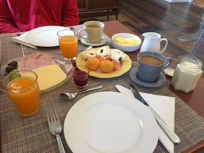 Frühstück im Zaguan Hostal Boutique