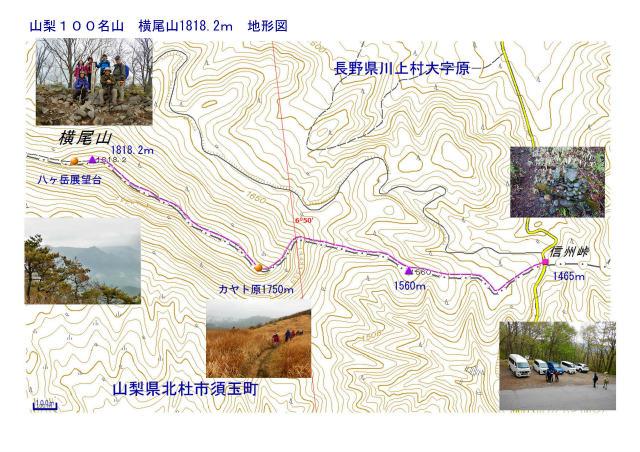 信州峠と横尾山