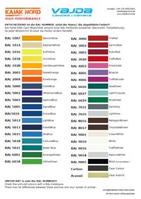 VAJDA RAL-Palette