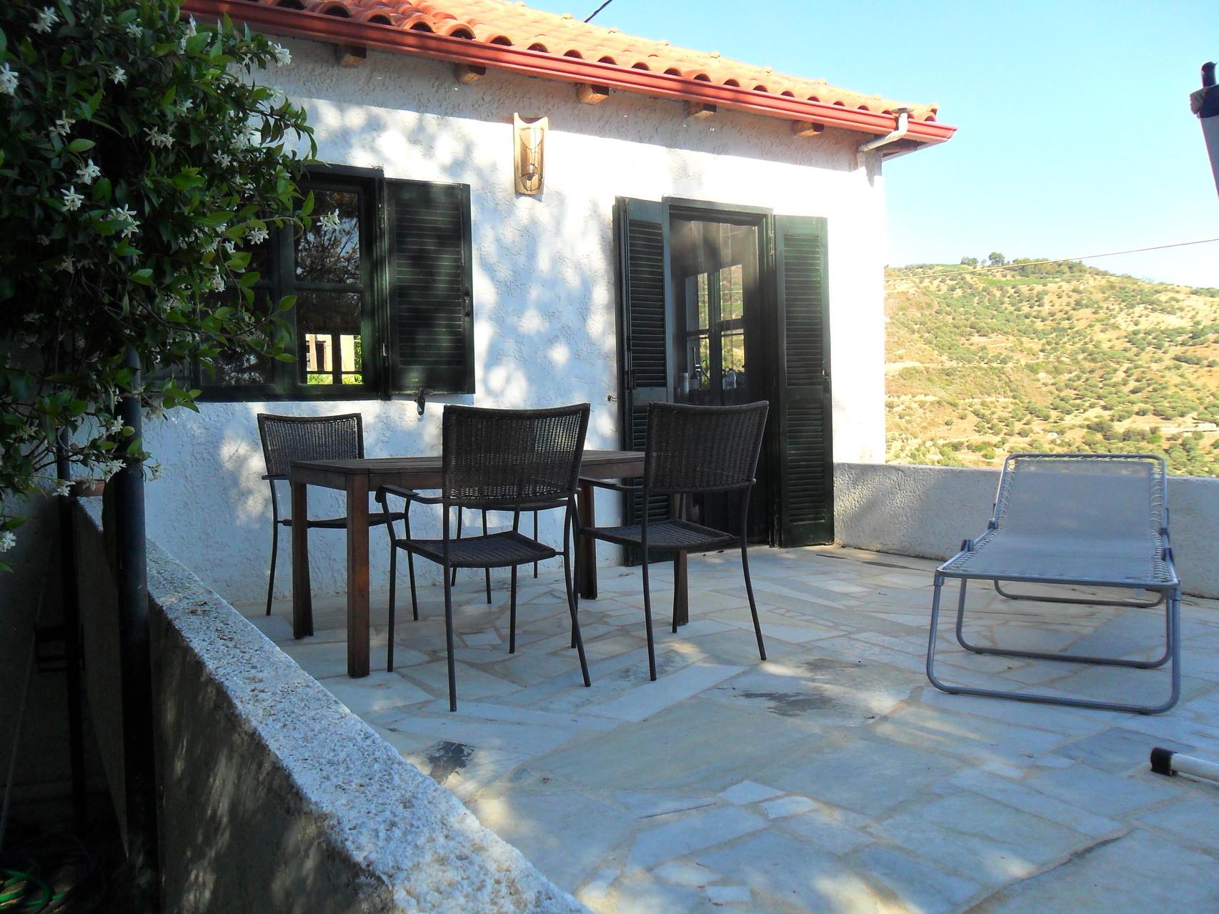 Sitzplatz auf Terrasse