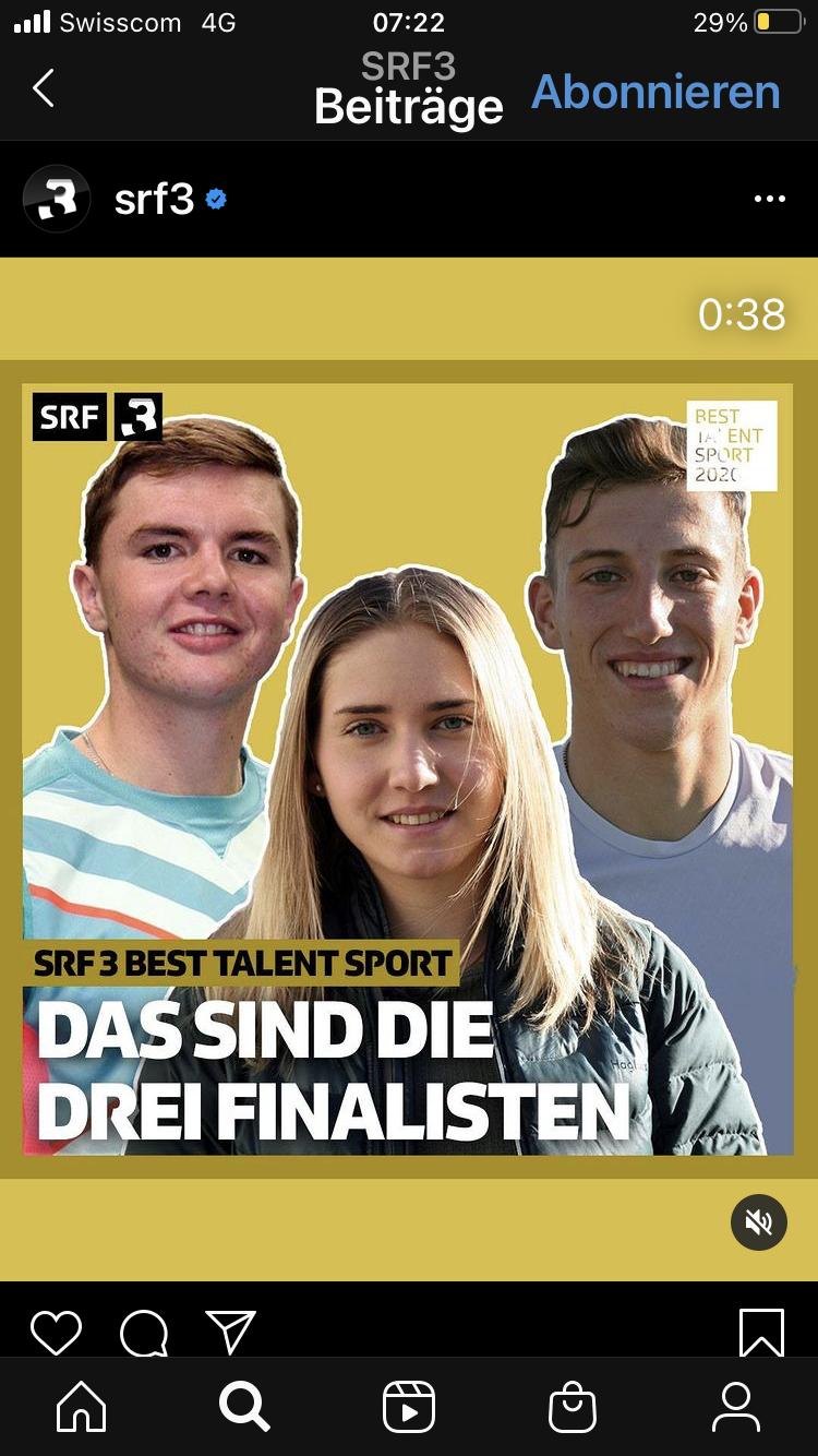 Wahl zum Best Talent Sport 2020 / Die Finalisten