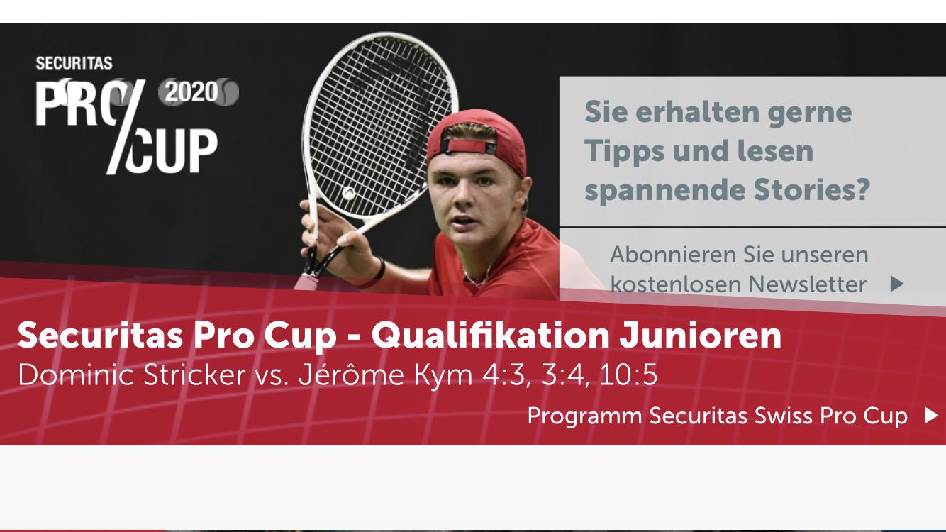 Qualifikation zum Pro Cup in Biel